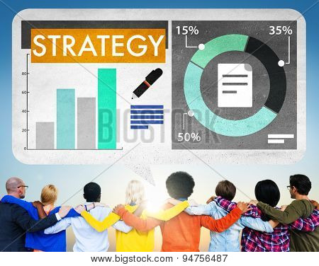 Business Strategy Graph Chart Data Analysis Concept