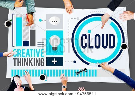 Cloud Cloud Computing Cloud Networking Data Storage Concept