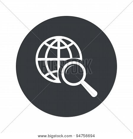 Monochrome round global search icon