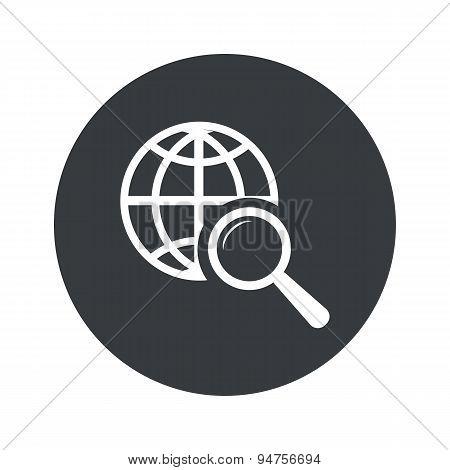 Monochrome round global search icon