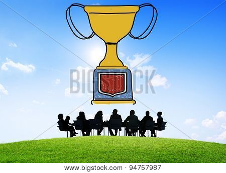 Motivation Trophy Success Winning Reward Prize Concept