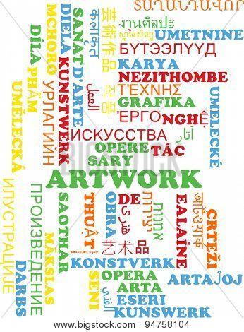 Background concept wordcloud multilanguage international many language illustration of artwork