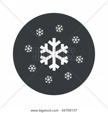 Monochrome round snow icon