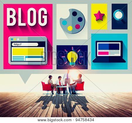 Blog Internet Social Networking Idea Media Concept