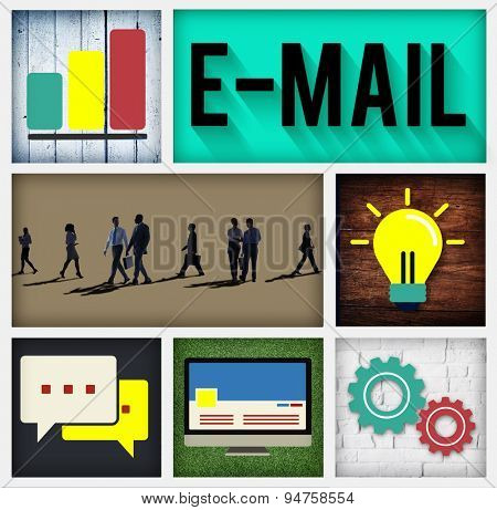E-mail Connecting Internet Global Communication Concept