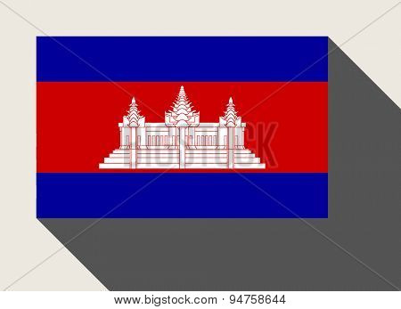 Cambodia flag in flat web design style.