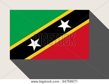 St Kitts and Nevis flag in flat web design style.
