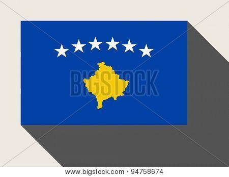 Kosovo flag in flat web design style.