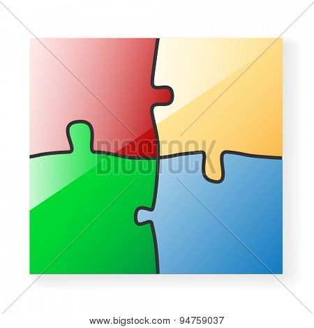 Vector colored Paper Puzzle. Illustration Background for Design.
