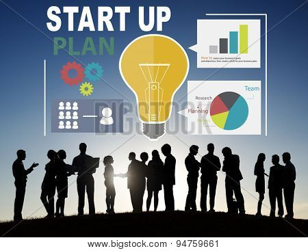 Start Up Launch Business Ideas Plan Creativity Concept