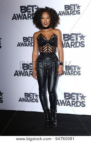 LOS ANGELES - JUN 28:  Serayah at the 2015 BET Awards - Press Room at the Microsoft Theater on June 28, 2015 in Los Angeles, CA