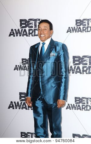 LOS ANGELES - JUN 28:  Smokey Robinson at the 2015 BET Awards - Press Room at the Microsoft Theater on June 28, 2015 in Los Angeles, CA