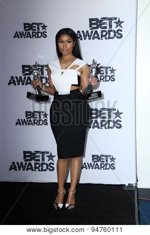LOS ANGELES - JUN 28:  Nicki Minaj at the 2015 BET Awards - Press Room at the Microsoft Theater on June 28, 2015 in Los Angeles, CA