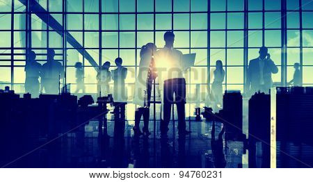 Business People Communication Cityscape Corporate Concept