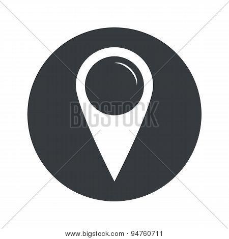 Monochrome round map marker icon