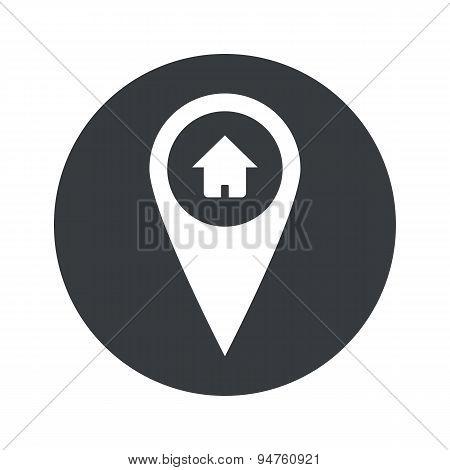 Monochrome round house pointer icon