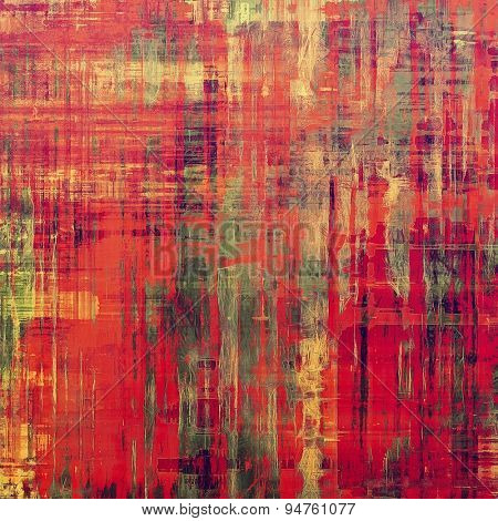 Old and weathered grunge texture. With different color patterns: yellow (beige); gray; pink; red (orange)