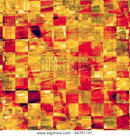 Aged grunge texture. With different color patterns: yellow (beige); brown; pink; red (orange)