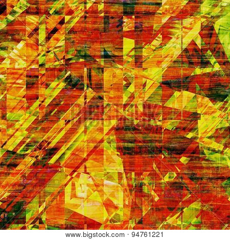 Aged grunge texture. With different color patterns: yellow (beige); brown; green; red (orange)