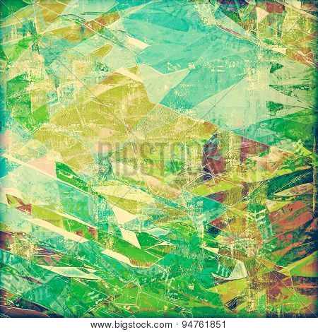 Aged grunge texture. With different color patterns: yellow (beige); brown; blue; green