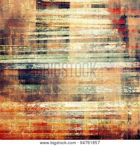 Old grunge template. With different color patterns: yellow (beige); brown; green; red (orange)