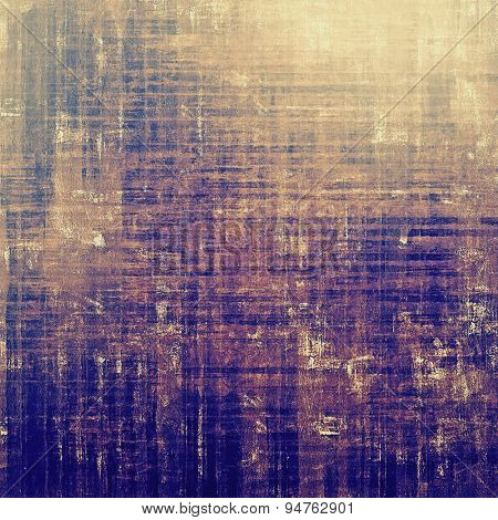 Old grunge textured background. With different color patterns: yellow (beige); gray; blue; purple (violet)