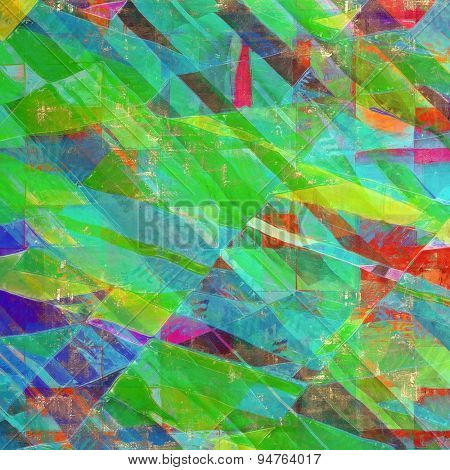 Art grunge vintage textured background. With different color patterns: brown; blue; green; pink; red (orange)