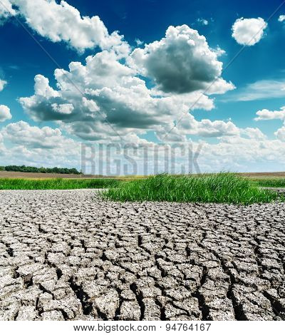 drought earth under dramatic sky