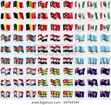 Belgium, East Timor, Bosnia And Herzegovina Federation, Aland, Syria, Sakha Repablic, Saba, Togo, Tu