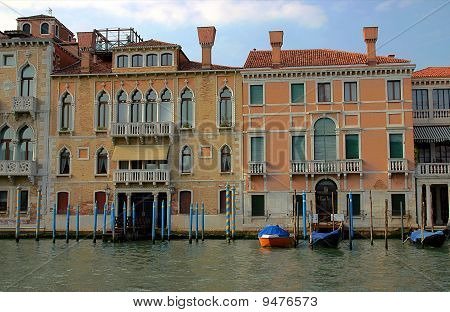 Traditional Venetian houses, Italy