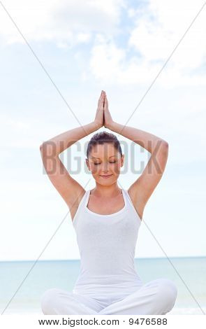 Young Zen Woman Practicing Yoga Exercise