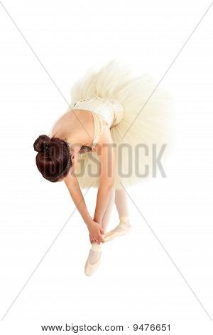 Female Ballet Dancer Stretching