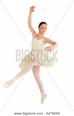 Young Ballet Dancer Isolated