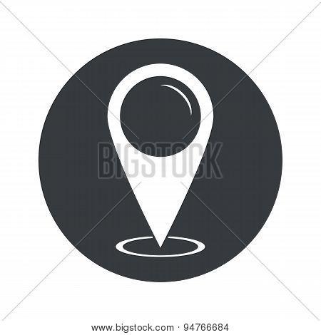 Monochrome round area pointer icon