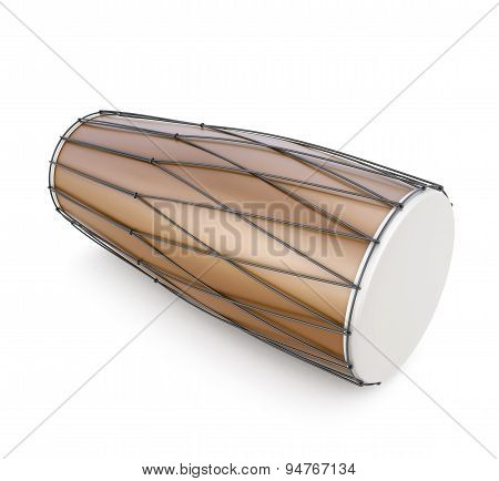 Dholak On A White