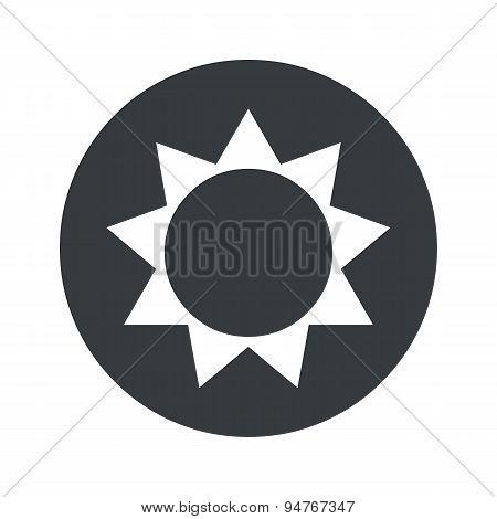 Monochrome round sun icon