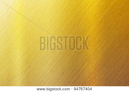 Gold brushed metal surface. sharp to the corners.