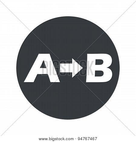 Round A to B icon