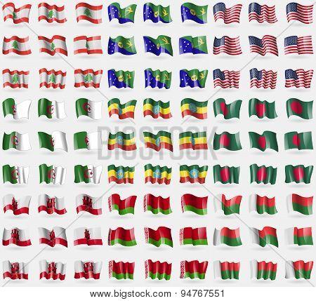 Lebanon, Christmas Island, Usa, Algaria, Ethiopia, Bangladesh, Gibraltar, Belarus, Madagascar. Big S