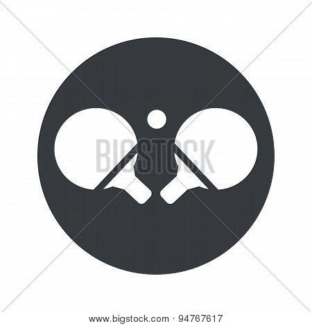 Monochrome round table tennis icon