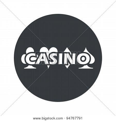 Monochrome round casino icon