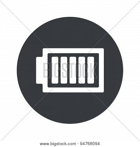 Monochrome round charged battery icon
