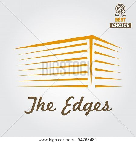 Logo, sticker, emblem, label and logotype elements for building company or business