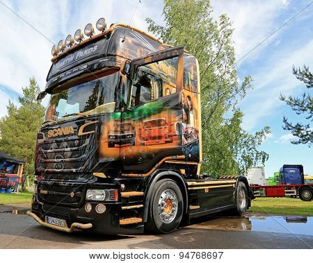 Scania R620 V8 Truck Of Martin Pakos At Riverside Truck Meeting 2015