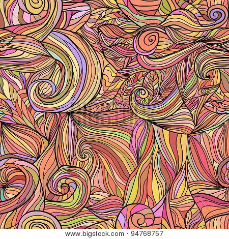 Seamless pattern with abstract feathers Vector 5