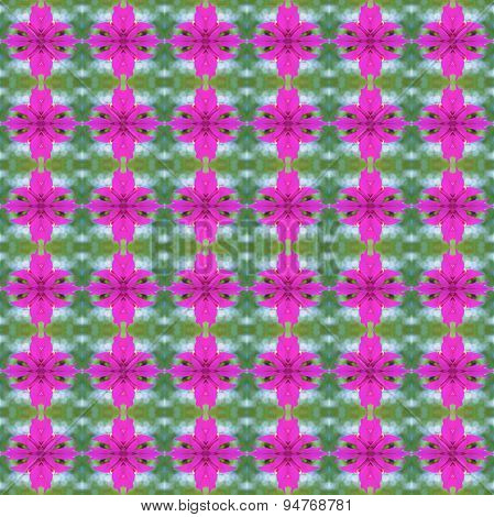 Pink Bougainvillea Or Paper Flower Seamless