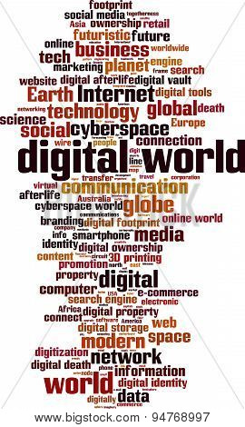 Digital World Word Cloud