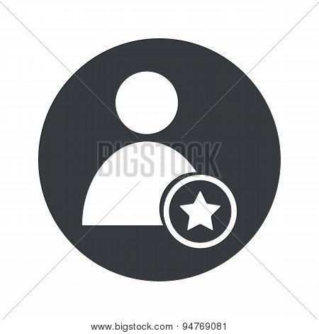Monochrome round favorite user icon