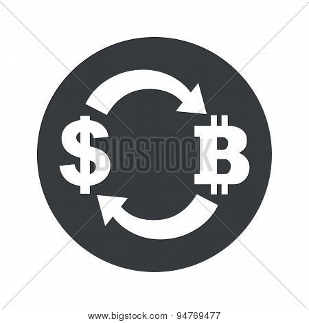 Monochrome dollar bitcoin exchange icon