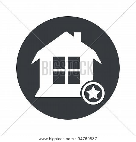 Monochrome round favorite house icon